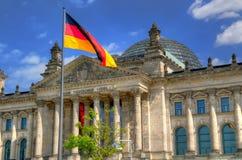 Den Reichstag byggnaden i Berlin, Tyskland Royaltyfria Foton