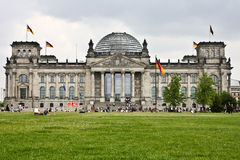 Den Reichstag byggnaden, Tyskland Royaltyfri Bild