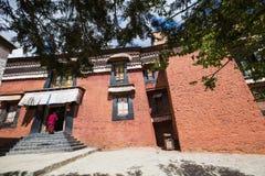 Den religiösa arkitekturen av denTibet platån Arkivfoton