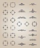 Den Retro rosett- och victorianprydnaden för garnering smsar royaltyfri illustrationer