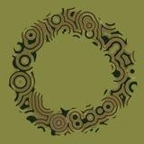 Den Retro tappningdiskotechnoen cirklar den dekorativa ramen Arkivbilder
