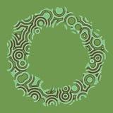 Den Retro tappningdiskotechnoen cirklar den dekorativa ramen Royaltyfria Foton