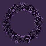 Den Retro tappningdiskotechnoen cirklar den dekorativa ramen Arkivfoto