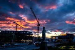 Den Reykjavik staden bor Arkivfoto