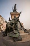 Den rid- monumentet för brons i Venedig Arkivfoton