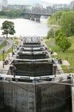 Den Rideau kanalen låser - Ottawa - Kanada royaltyfri foto