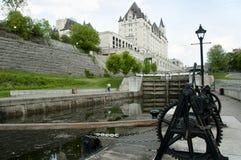 Den Rideau kanalen låser - Ottawa - Kanada arkivbild