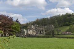 Den Rievaulx abbotskloster, North Yorkshire förtöjer, North Yorkshire, England Arkivfoton