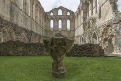 Den Rievaulx abbotskloster, North Yorkshire förtöjer, North Yorkshire, England Arkivbild