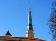 Den Riga citadellen, står högt tre stjärnor Arkivbilder