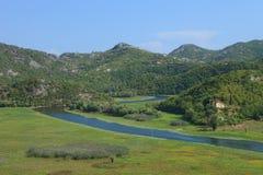 Slingrig flod i Montenegro Royaltyfri Foto