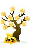 Den rika treen, gloden treen Royaltyfri Fotografi