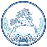 Den rinnande hästen Arkivfoto