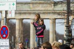 Den årliga Berlin Half Marathon berkshires germany Royaltyfri Foto