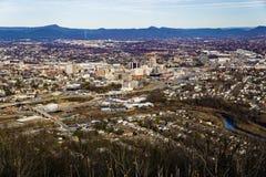 Den Roanoke dalen från maler berget, Virginia, USA Arkivbild