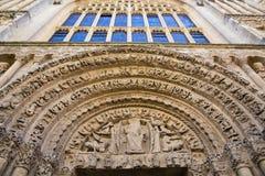 Den Rochester domkyrkan är i andra hand äldsta England, efter att ha grundats i 604AD Arkivfoton