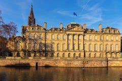 Den Rohan slotten i Strasbourg alsace france Royaltyfri Fotografi