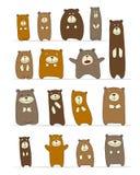 Den roliga björnsamlingen, skissar för din design stock illustrationer