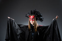 Den roliga deveilen i det halloween begreppet Arkivbilder