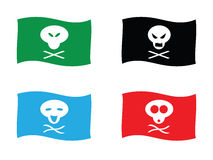 den roliga flaggan piratkopierar Royaltyfri Bild