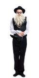Den roliga gammala juden med skor Royaltyfri Fotografi