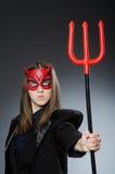 Den roliga jäkeln i det halloween begreppet Royaltyfri Foto