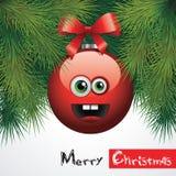 Den roliga julen klumpa ihop sig Arkivfoton