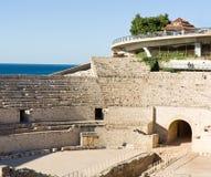 den roman amphitheateren fördärvar spain Royaltyfria Bilder