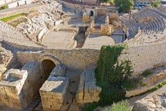 den roman amphitheateren fördärvar spain Fotografering för Bildbyråer