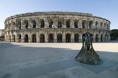 Den roman arenan arkivfoto