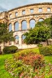 Den roman arenan i Pula, Kroatien royaltyfri foto