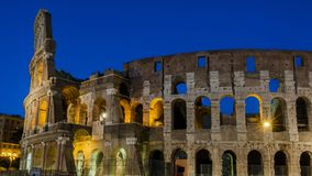 Den roman colosseumen Arkivfoto