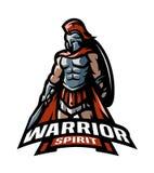 Den Roman Warrior logoen vektor illustrationer