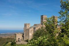 Den romanska abbotskloster av Sant Pere de Rodes Girona Catalonia Fotografering för Bildbyråer