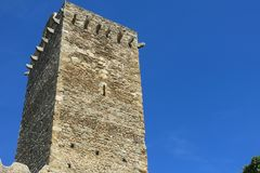 Den romanska abbotskloster av Sant Pere de Rodes, i kommunen Royaltyfri Foto