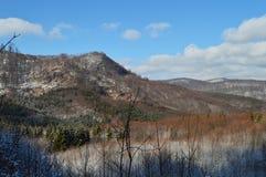 Den romantiska vintern landskap Fotografering för Bildbyråer