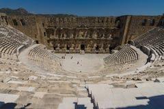 Den romerska forntida teatern i Aspendos Royaltyfri Bild