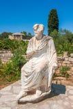Den romerska statyn av Gortys, arkeologisk plats på Kreta royaltyfri bild