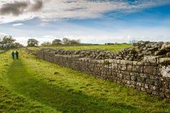 Den romerska väggen royaltyfri foto