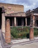Den romerska villan fördärvar, Herculaneum, Italien. Royaltyfria Bilder