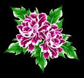 Den rosa blomman ställde in 3 Royaltyfri Illustrationer