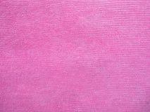 Den rosa handduken texturerar Royaltyfri Fotografi
