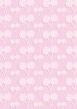 Den rosa modellen av många candys Arkivfoto