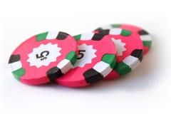 Den rosa poker gå i flisor Fotografering för Bildbyråer