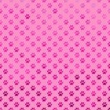 Den rosa purpurfärgade hunden Paw Metallic Foil Polka Dot tafsar bakgrundsmodellen Arkivfoto
