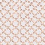 Den rosa runda grafiska repetitionmodellen med tappning fläktar Royaltyfria Bilder
