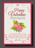 den rosa valentin steg Arkivfoton