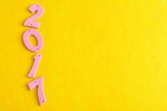 2017 in den rosa Zahlen Lizenzfreies Stockfoto