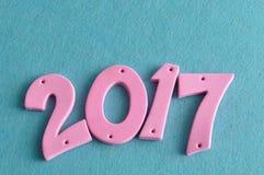 2017 in den rosa Zahlen Stockbild