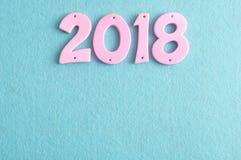 2018 in den rosa Zahlen Stockbilder